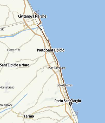 מפה / Da Porto San Giorgio a Civitanova Marche