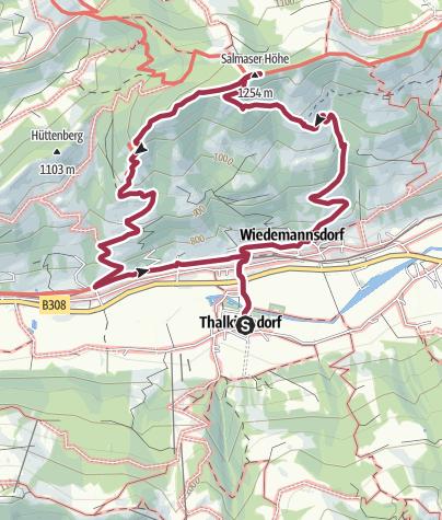 Karte / Von Thalkirchdorf zur Salmaser Höhe
