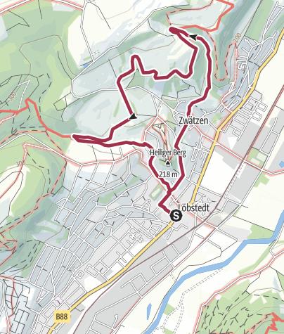 Map / Weinberge und Kirschblüten im Jenaer Norden