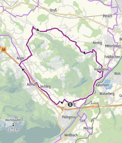 Karte / Rad: Rund um den Högl