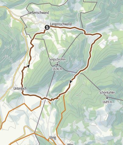 Karte / Grenzlandrunde bei Jungholz