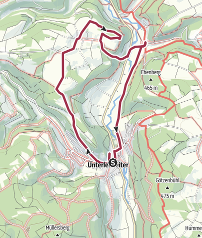 Karte / Schloss Unterleinleiter und Totenstein