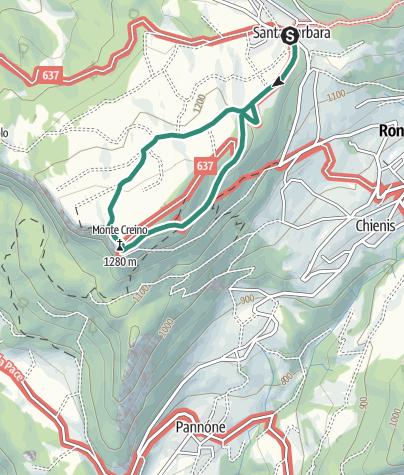 Cartina / Monte Creino