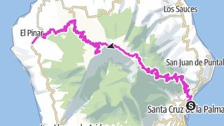 Map / Inselüberquerung mit Rennrad o. Mountainbike ca. 75 km u. ca. 2800 hm am Stück, von Santa Cruz über den Roque de los Muchachos (2426 m)