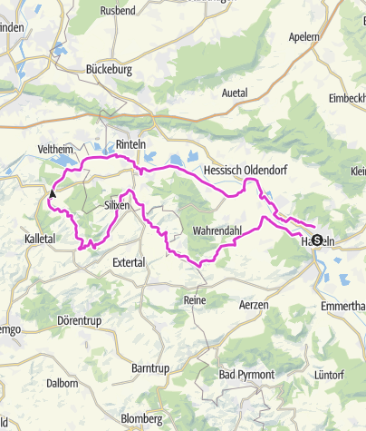 Mapa / Von Hameln ins Kalletal
