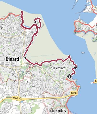 Map / Dinard forêt et mer