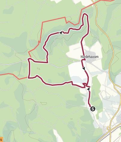 Karte / Hermannshöhen Tourentipp 17: KlimaErlebnisRoute Hardehausen