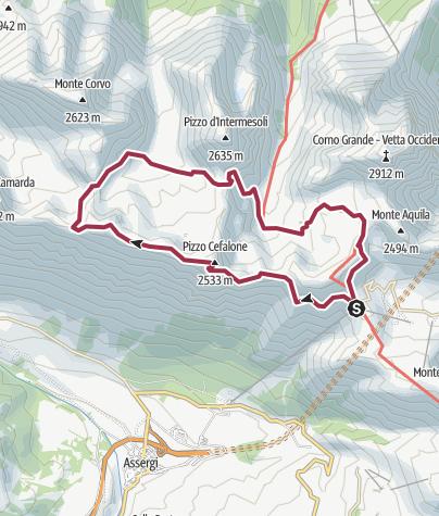 Map / Cresta delle Malecoste