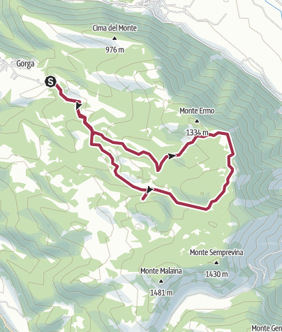 Map / Sprone Maraoni da Gorga