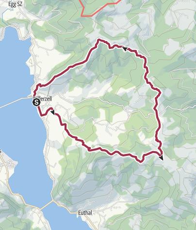 Karte / Sihlsee Höhenwanderung