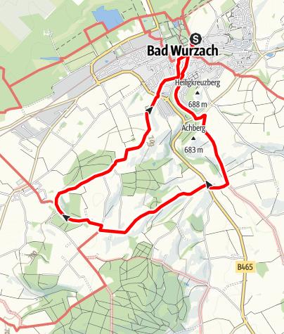 Karte / Bad Wurzach - Entlang der Ach auf den Ziegelbacher Berg
