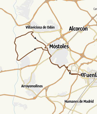 Map / Fuenla - Vía Verde Mostoles - río - Villaviciosa