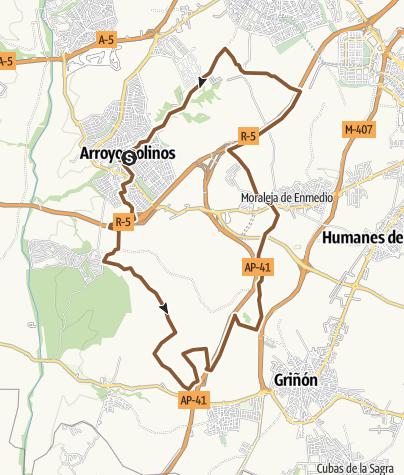 Map / Ruta nocturna Arroyomolinos