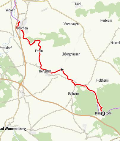 Karte / Altenau-Radweg
