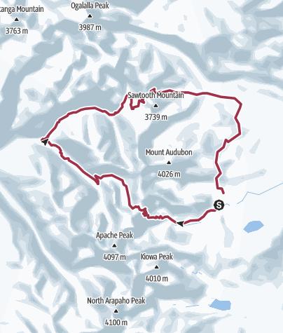 Map / Pawnee Pass - Buchanan Pass Loop