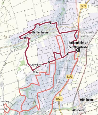 Karte / Bockenheimer Sängerwanderweg