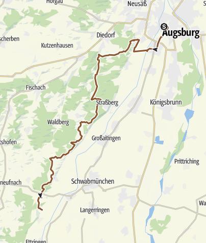 Karte / Allgäuschwäbischer Wanderweg von Augsburg nach Sonthofen 1
