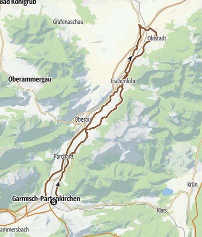 Karte / Durch das Loisachtal