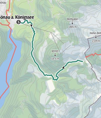 Karte / Bergtour aufs Schneibsteinhaus