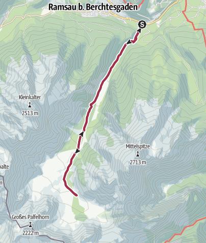 Karte / Wanderung zur Wimbachgrieshütte