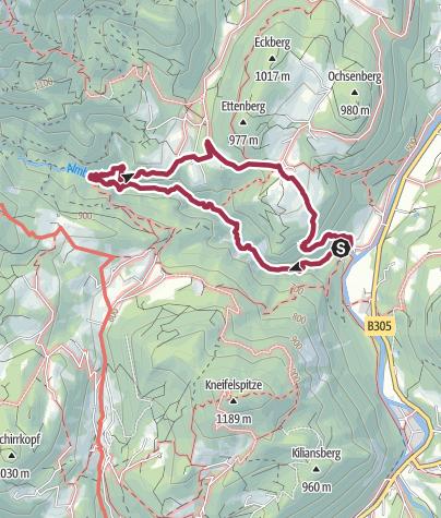Karte / Durch die Almbachklamm nach Ettenberg