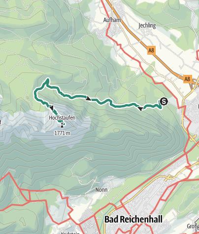 Karte / Hochstaufen von Schloss Staufeneck