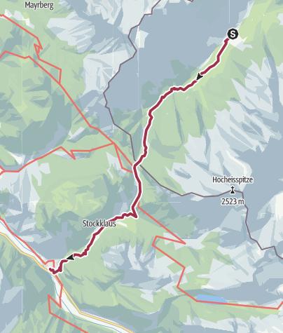 Karte / Vom Klausbachhaus über den Hirschbichlpass