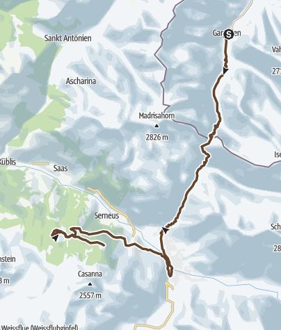 Karte / Oberstdorf - Tirano Etappe3: Gargellen - Klosters