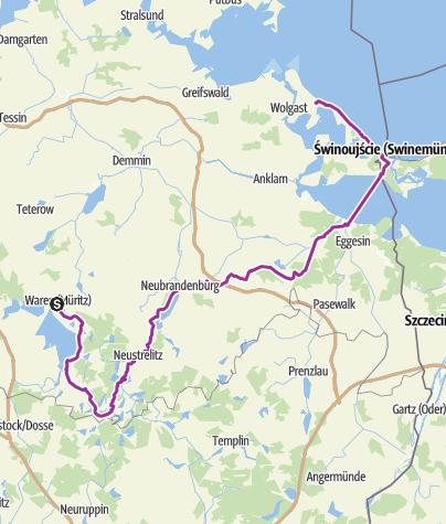 Radweg Mecklenburgische Seenplatte Karte.Entlang Des Mecklenburger Seen Wegs Nach Usedom Radtour