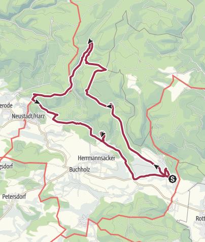 Karte / Burgentour Rodishain - Neustadt
