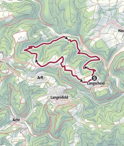 Karte / Traumpfad Wacholderweg