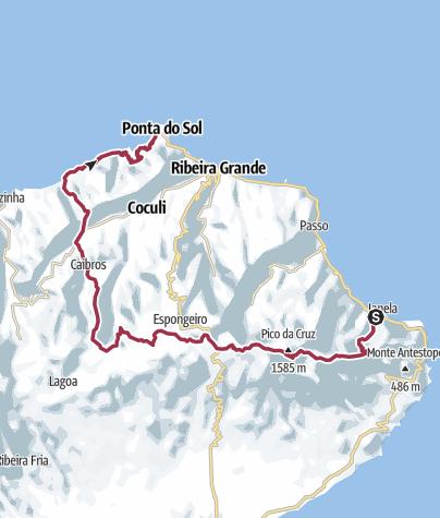 Carte / Santo Antao Nord Est