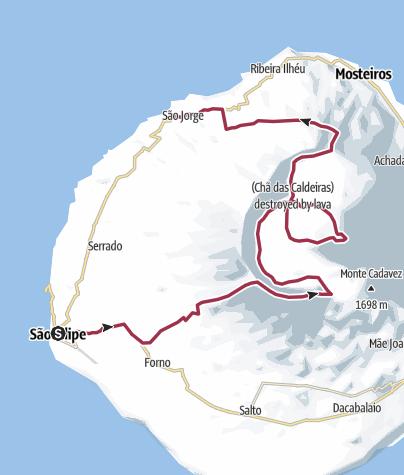 Carte / Fogo Traversée Sud-Nord