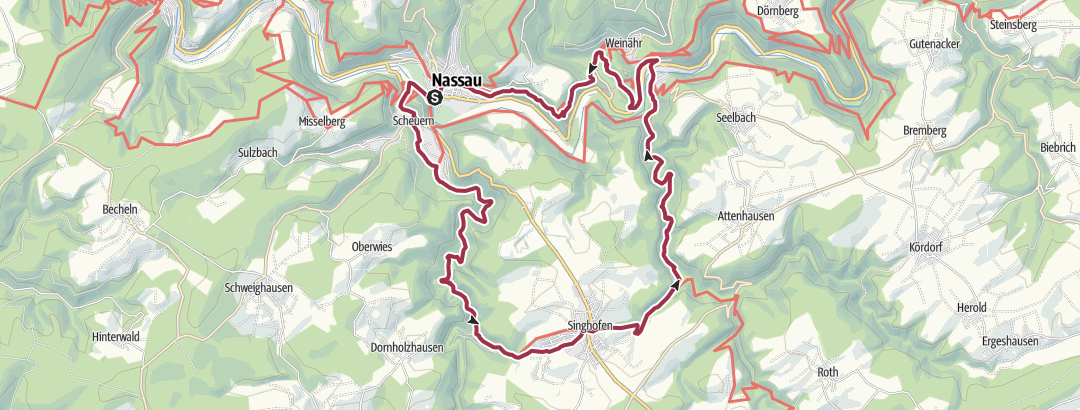 Mapa / Vier-Täler-Tour