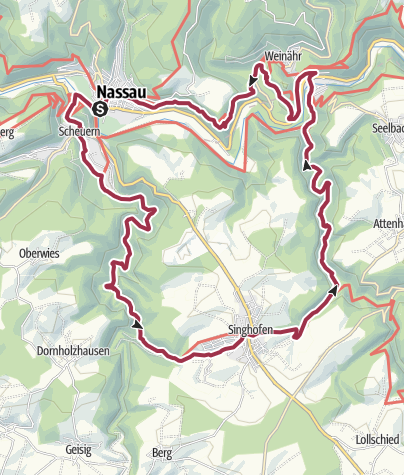 Carte / Vier-Täler-Tour