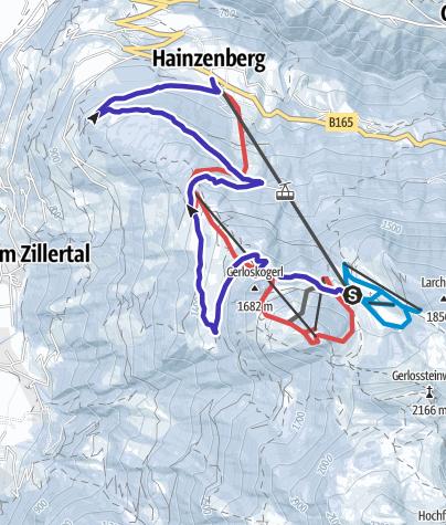 Karte / Mit dem Rodel am Gerlosstein im Zillertal