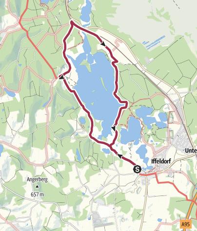 Karte / Wanderung um die Osterseen