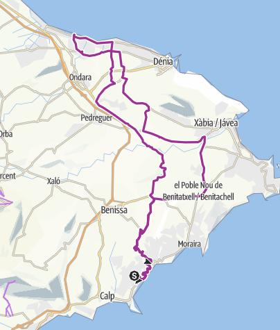 Map / cape - to denia  89.52km