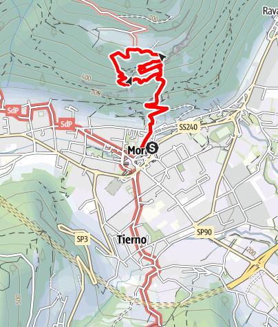 Karte / Die Via attrezzata am Monte Albano (Mori-Klettersteig) im Trentino