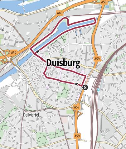 Karte / Rundtour am Duisburger Innenhafen