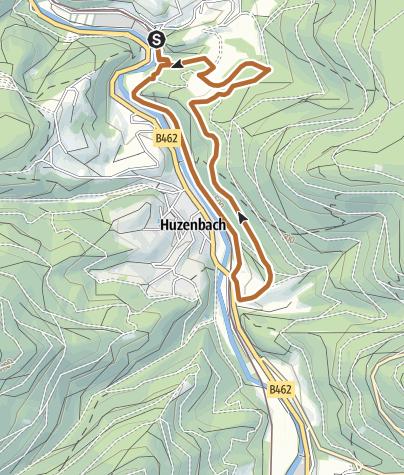 Karte / NW Tour 11 - Richtung Huzenbach