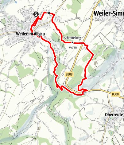 Karte / Weiler-Simmerberg R12