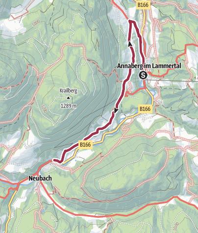 Karte / Annaberg: Höhenweg Annaberg-Lungötz (4 Punkte)