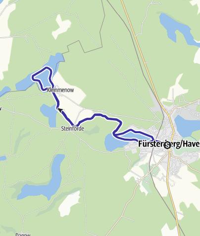 Karte / Über die Havel zum Ziernsee