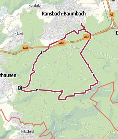 Cartina / Waldseen im Kannenbäckerland