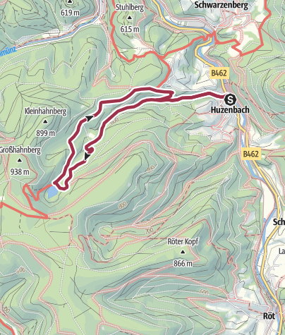 Map / Zum Huzenbacher See