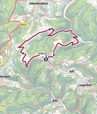 地图 / Traumpfad Bergheidenweg