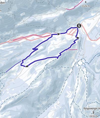 Karte / Gunzesried - Alpe Mittelberg