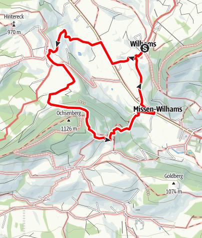 Karte / Wilhams-Aigis-Ochsenberg-Hölle-Wilhams
