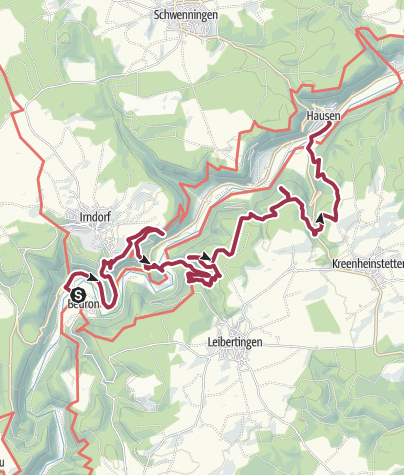 Karte / Donau-Zollernalb-Weg 1. Etappe: Von Beuron nach Hausen im Tal